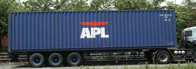 APL(American President Lines)のコンテナ